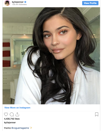 Kylie Jenner on Instagram